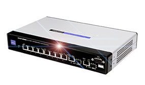 SRW208P - 8-port 10/100 Switch with WebView and PoE